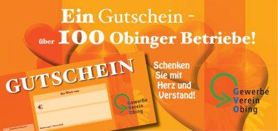 Gewerbeverein Obing - Obinger Gutschein