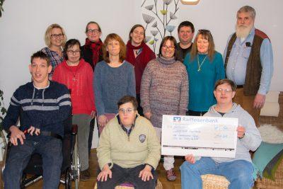 500 Euro Spende für Lebenshilfe Großornach