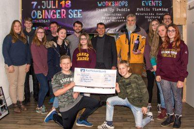 500 Euro Spende für JUZ Obing
